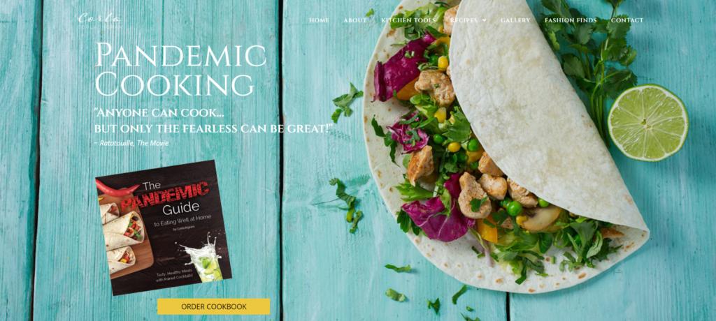 Corla Ingram Cookbook Website