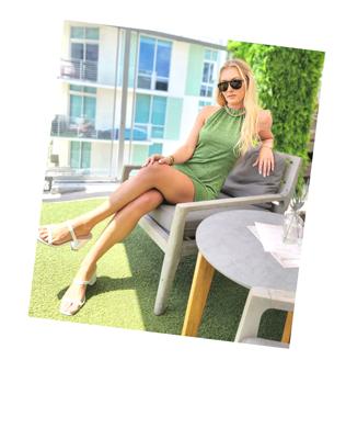 Corla Ingram at Rooftop in Las Olas Fort Lauderdale